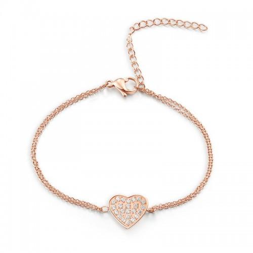 Armband HEART Poliert Edelstahl Rosé