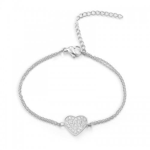 Armband HEART Poliert Edelstahl Silbern