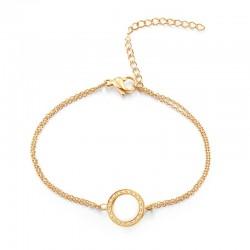 Armband ROSANNE Poliert Edelstahl Golden