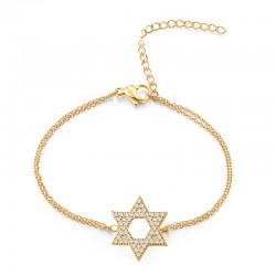 Armband STAR Poliert Edelstahl Golden