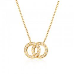 Halskette ANNABELLE Poliert Edelstahl Golden