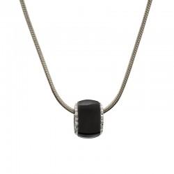 Halskette DONNA Poliert Schwarz Edelstahl