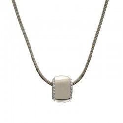 Halskette DONNA Poliert Silbern Edelstahl