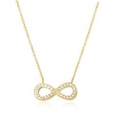 Halskette ENDLESS Poliert Edelstahl Golden