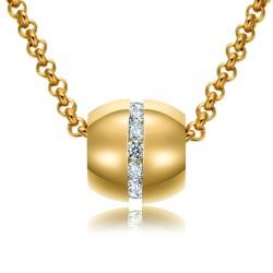 Halskette KATHARINA Poliert Edelstahl Golden