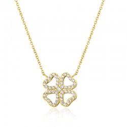 Halskette LUCKY Poliert Edelstahl Golden