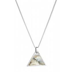 Halskette Edelstahl Silbern Flare