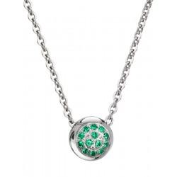 Halskette Edelstahl Silbern Emerald