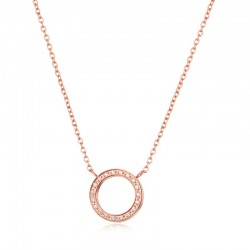 Halskette ROSANNE Poliert Edelstahl Rosé
