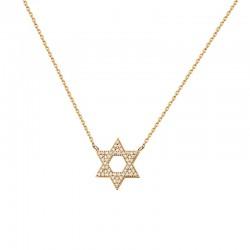 Halskette STAR Poliert Edelstahl Golden
