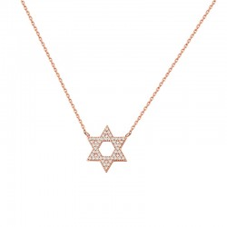 Halskette STAR Poliert Edelstahl Rosé