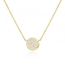 Halskette SUNNY Poliert Edelstahl Golden