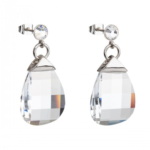Ohrstecker Edelstahl Silbern Crystal