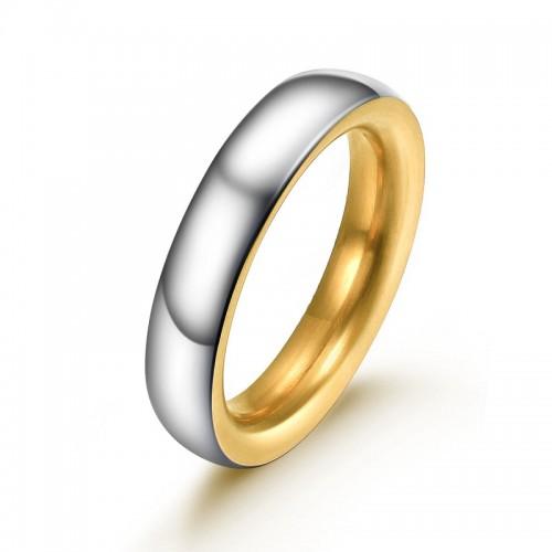 Ring AMOR Poliert Edelstahl Silbern Golden