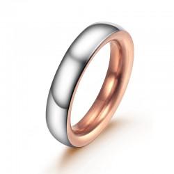 Ring AMOR Poliert Edelstahl Silbern Rosè