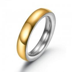 Ring AMOR Poliert Edelstahl Golden Silbern