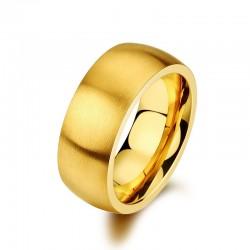 Ring DIAGO Mattiert Edelstahl Golden