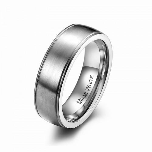Ring PERCY Mattiert Edelstahl Silber