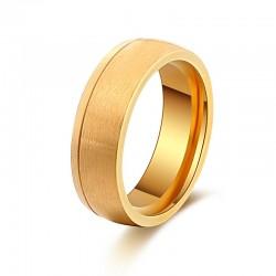 Ring STANLEY Mattiert Edelstahl Golden