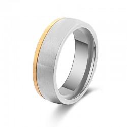 Ring STANLEY Mattiert Edelstahl Silbern Golden