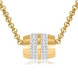 Halskette ALEXANDRA Mattiert Edelstahl Golden
