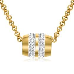 Halskette ALEXANDRA Poliert Edelstahl Golden