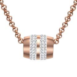 Halskette ALEXANDRA Poliert Edelstahl Rosè