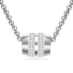 Halskette ALEXANDRA Poliert Edelstahl Silbern