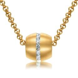 Halskette KATHARINA Mattiert Edelstahl Golden