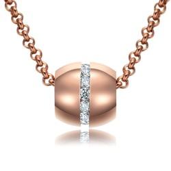 Halskette KATHARINA Poliert Edelstahl Rosé