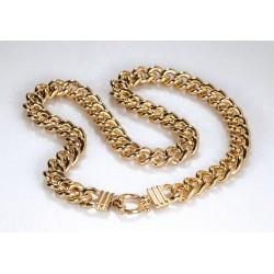 Halskette JENNIFER Edelstahl Poliert Golden
