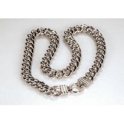 Halskette JENNIFER Edelstahl Poliert Silbern