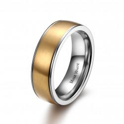 Ring PERCY Mattiert Edelstahl Golden Silbern
