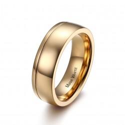Ring STANLEY Poliert Edelstahl Golden